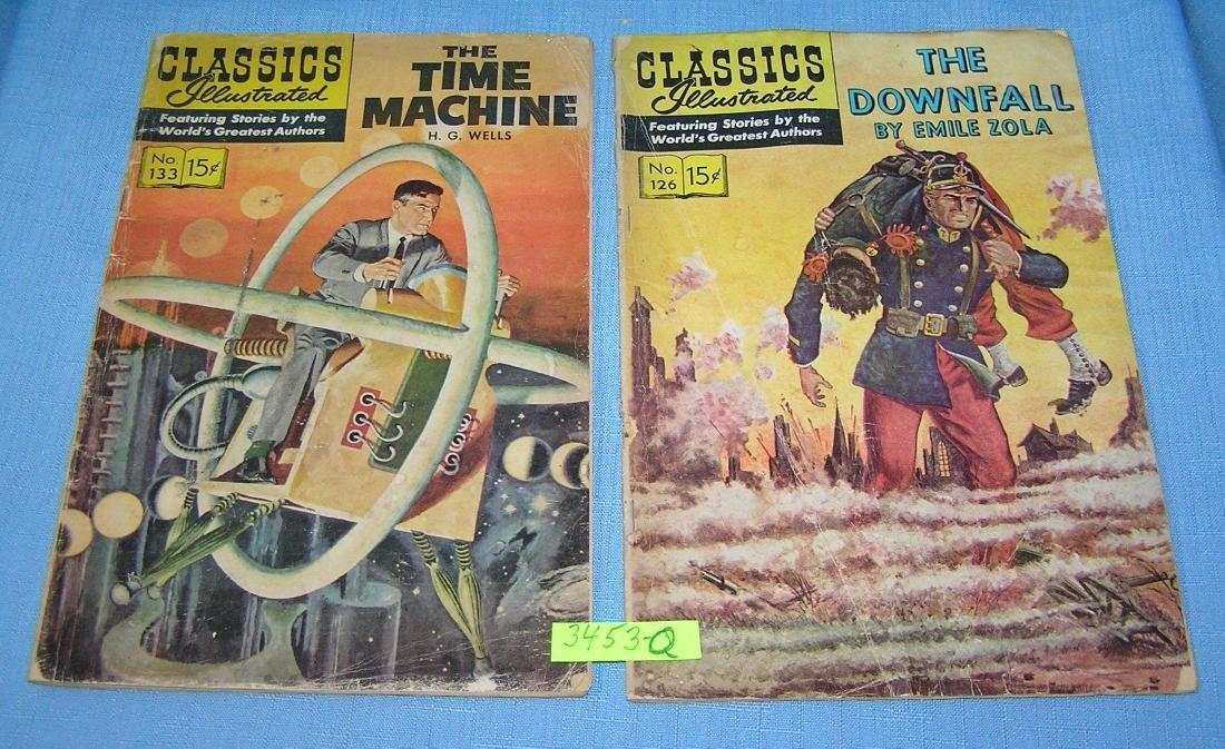 Pair of vintage Classic Illustrated comic books