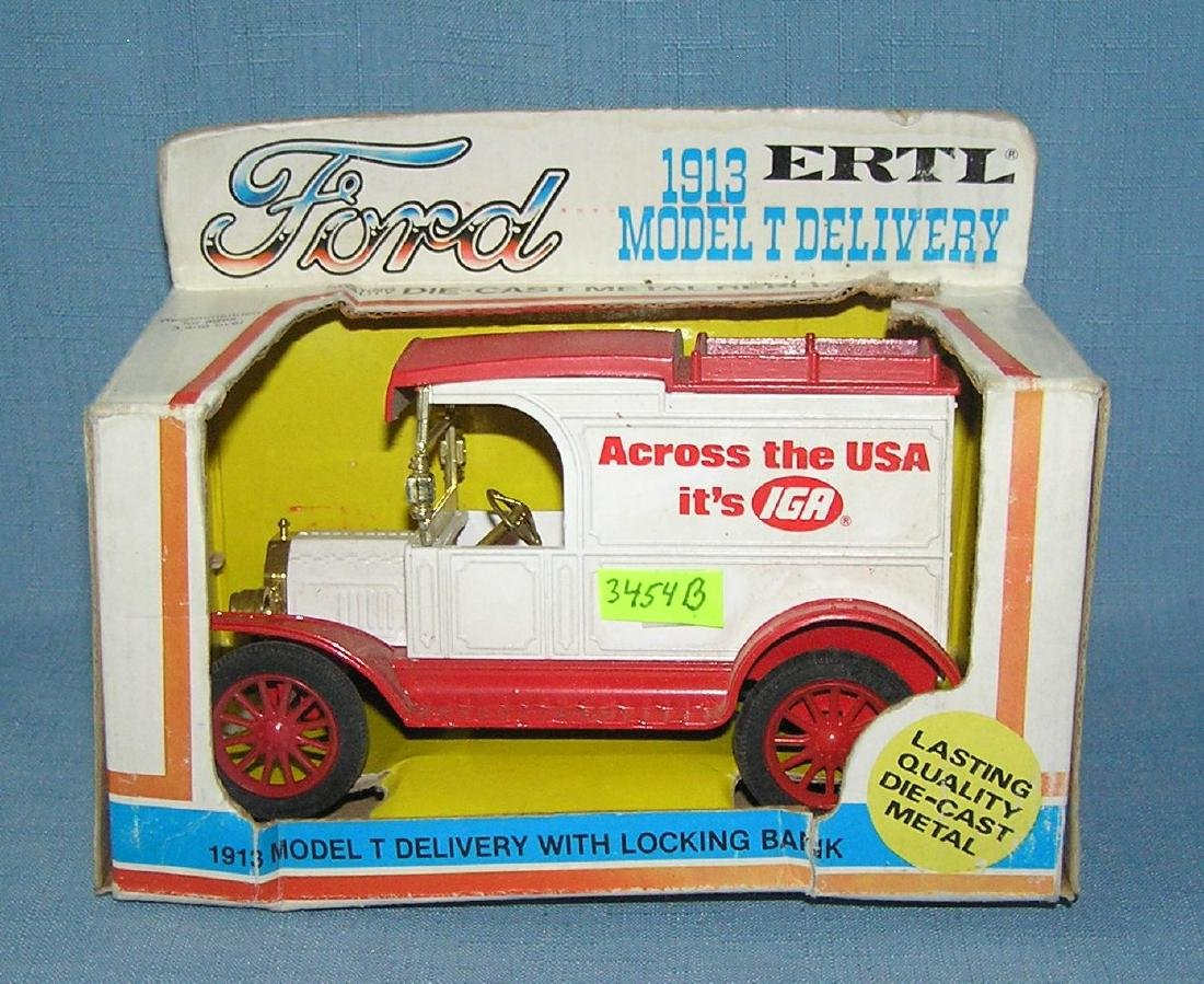 IGA all cast metal 1913 style delivery truck bank