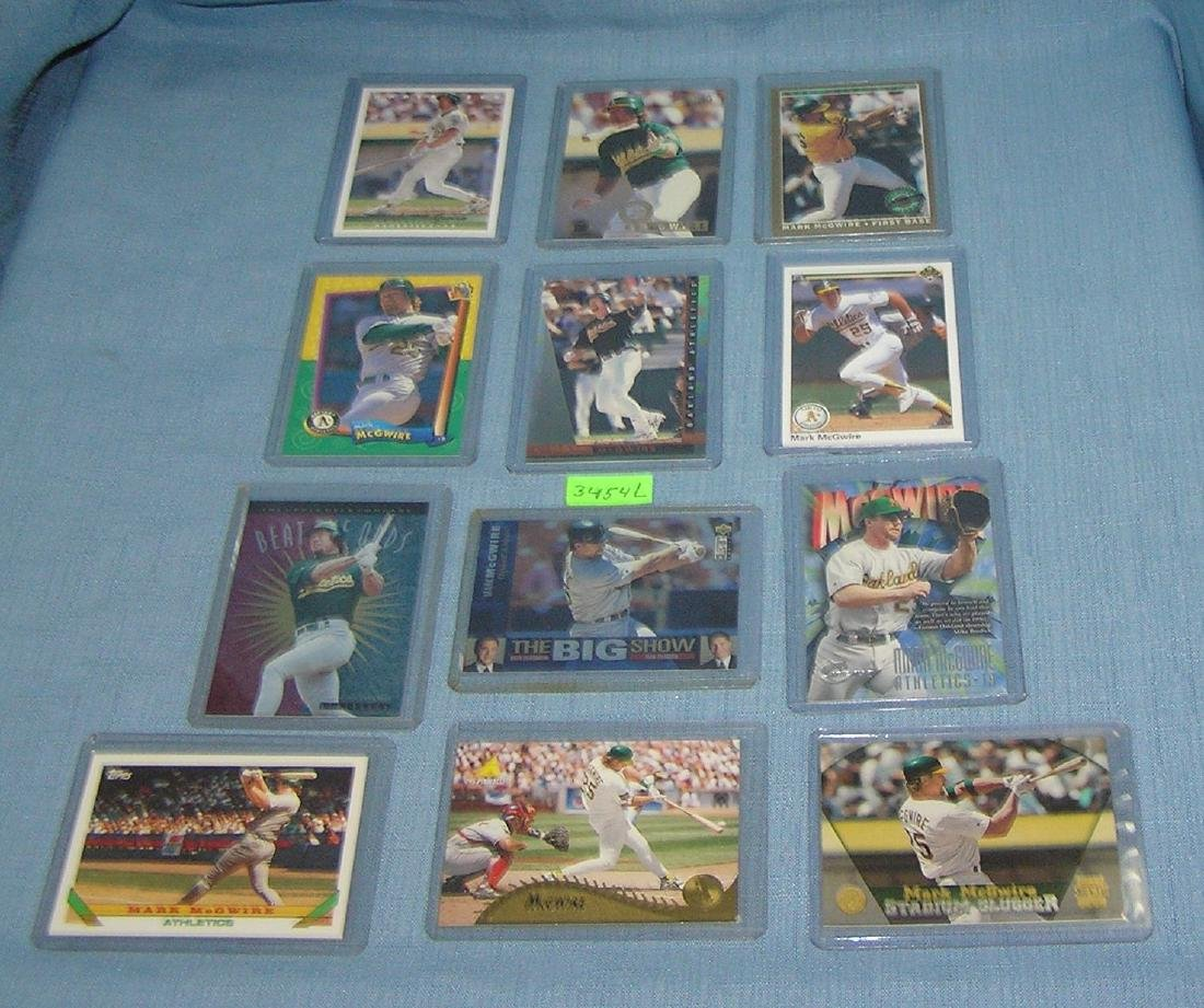 Collection of vint. Mark McGwire Baseball cards