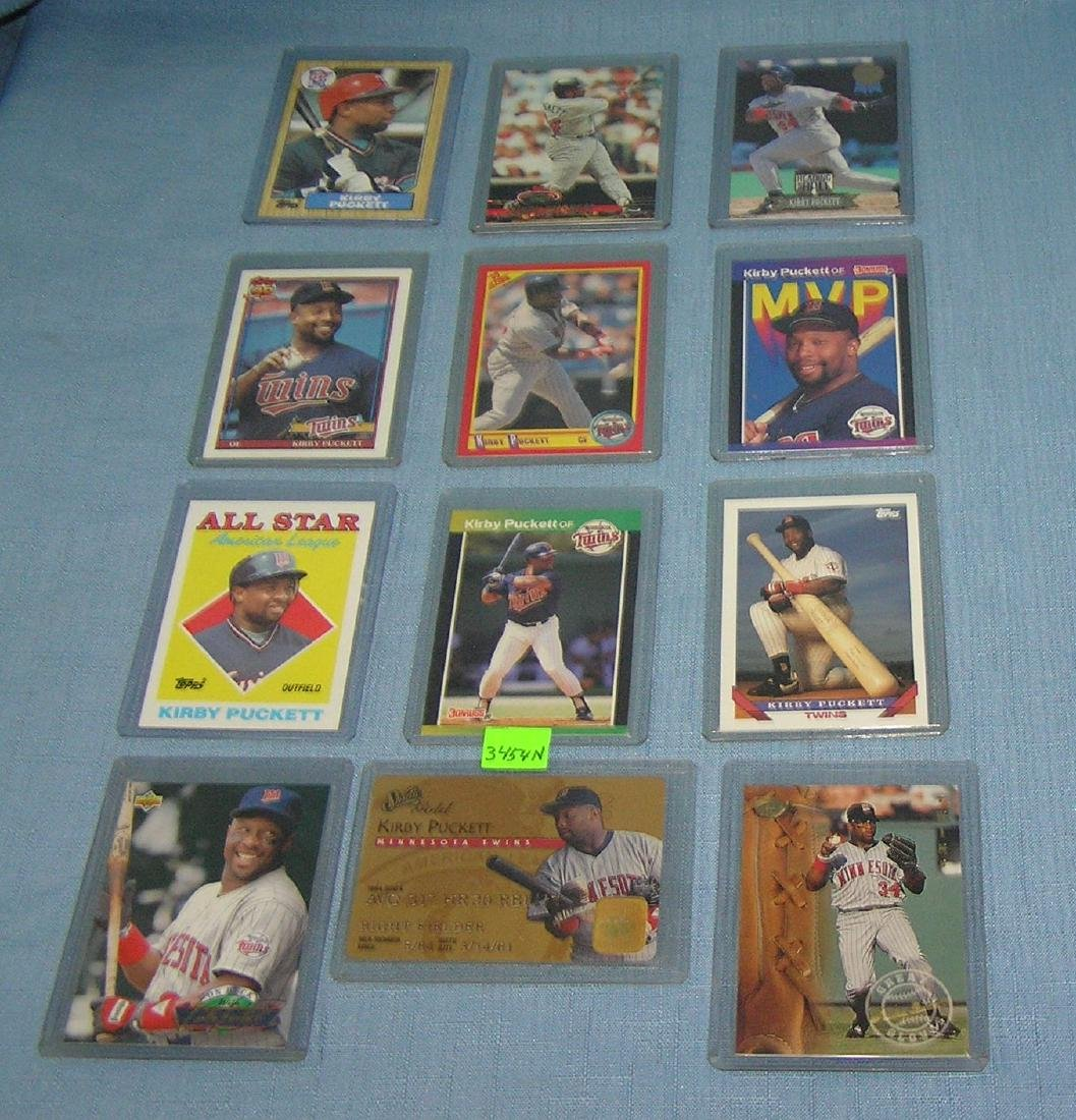 Collection of vint. Kirby Puckett Baseball cards