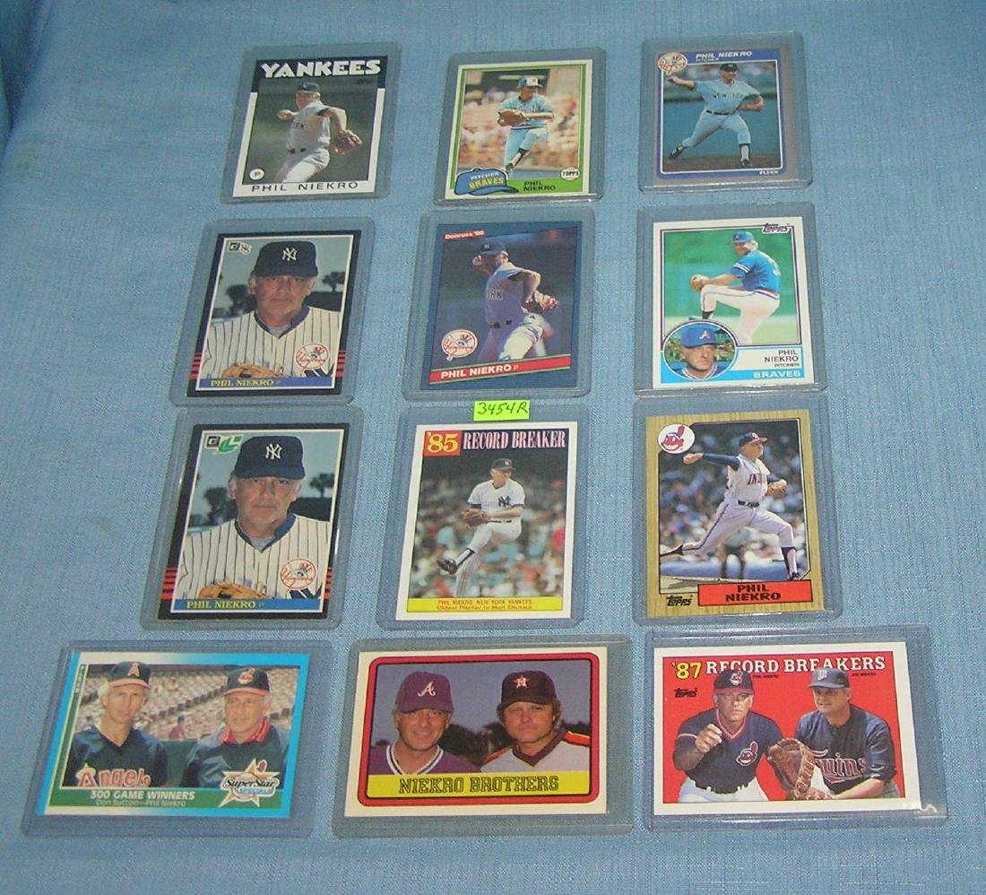 Collection of vintage Phil Niekro Baseball cards