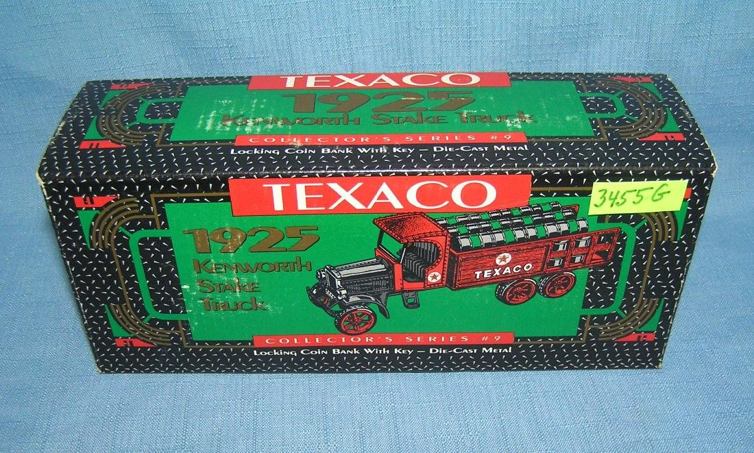 Texaco 1925 style Kenworth barrel truck bank