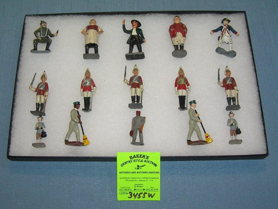 Group of vintage hand painted toy figures