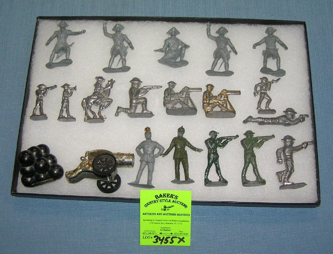 Lead and metal toy soldiers and accessories