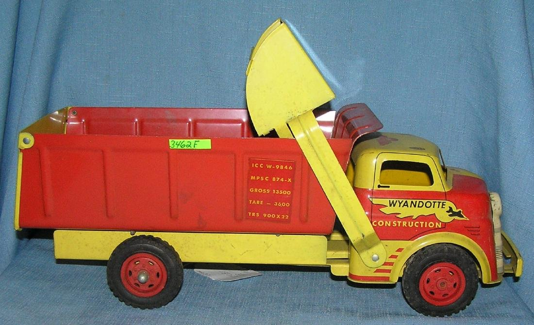 Early tin Wyandotte construction truck