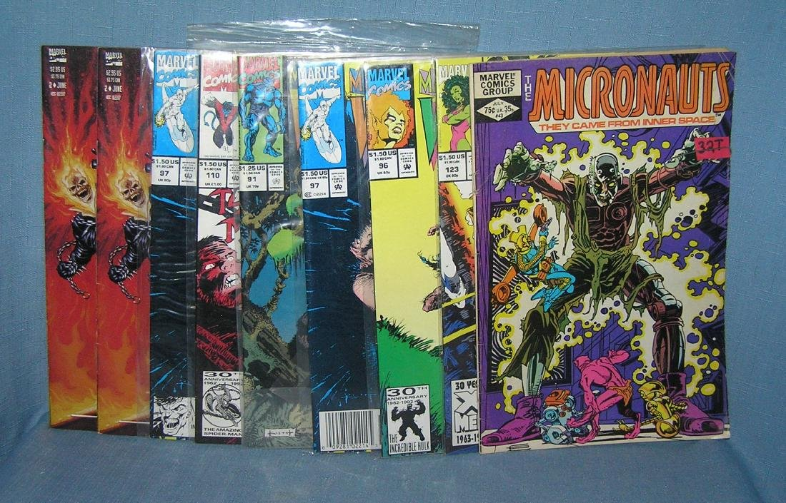 Comic books featuring Micronauts, Wolverine & more