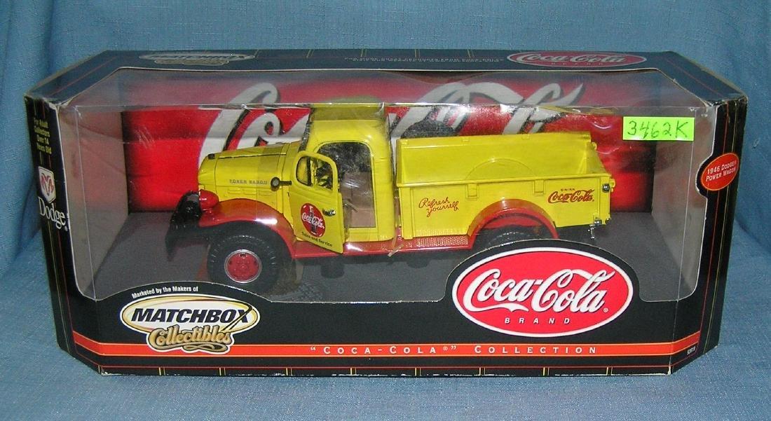 All cast metal Coca Cola Dodge delivery truck