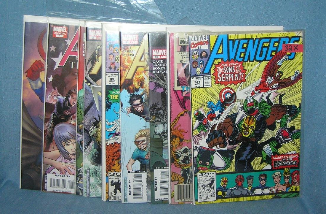 Group of vintage Marvel Avengers comic books