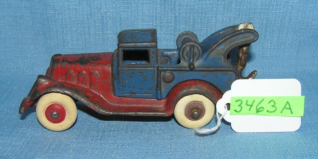 Early cast iron tow truck