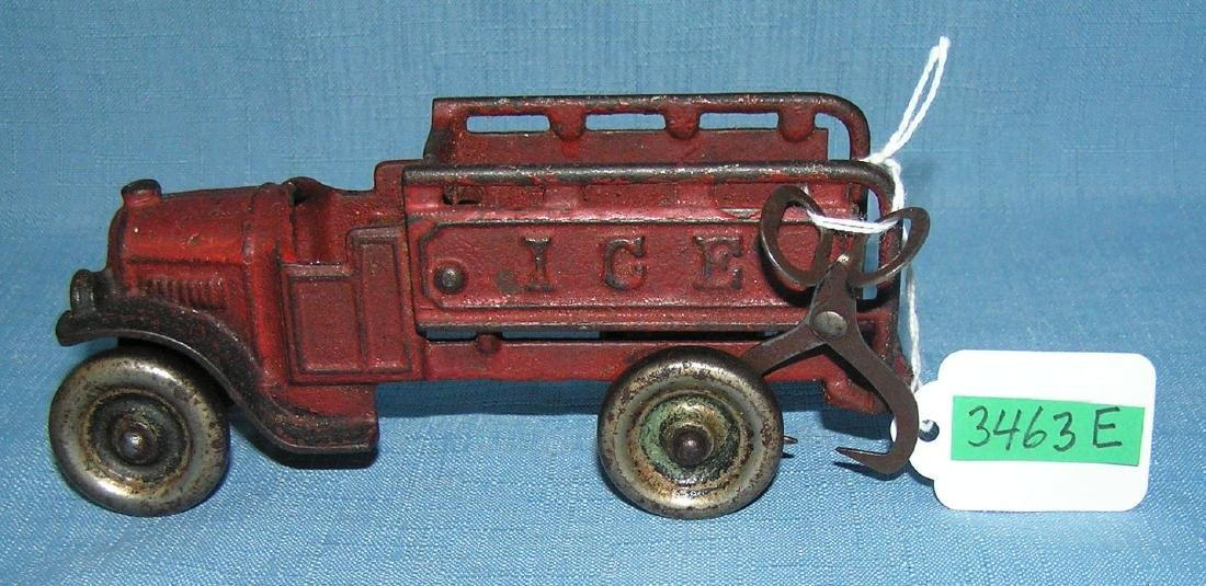 Antique cast iron ice delivery truck