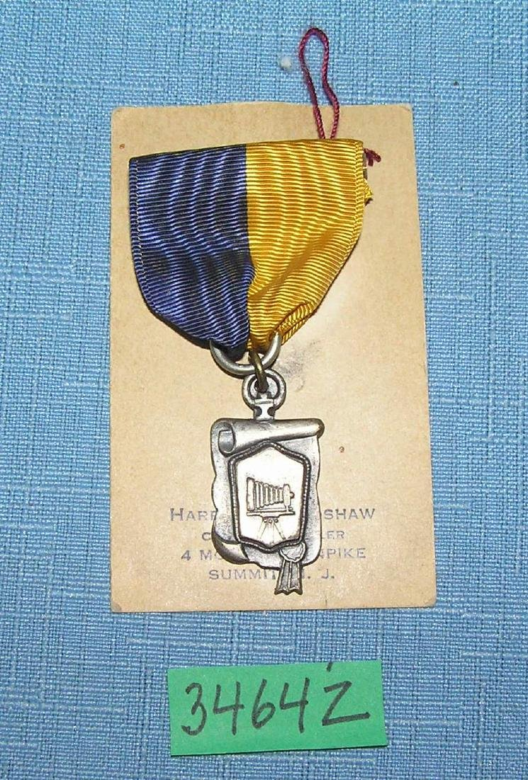 Early photography award medal