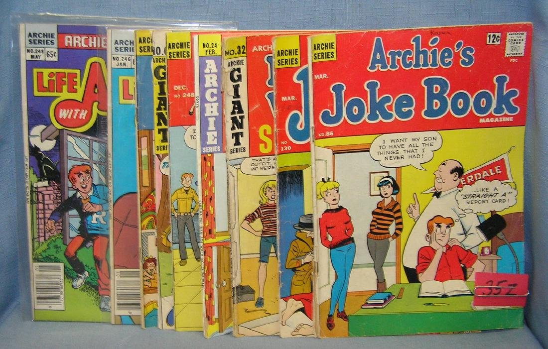 Group of early Archie comics