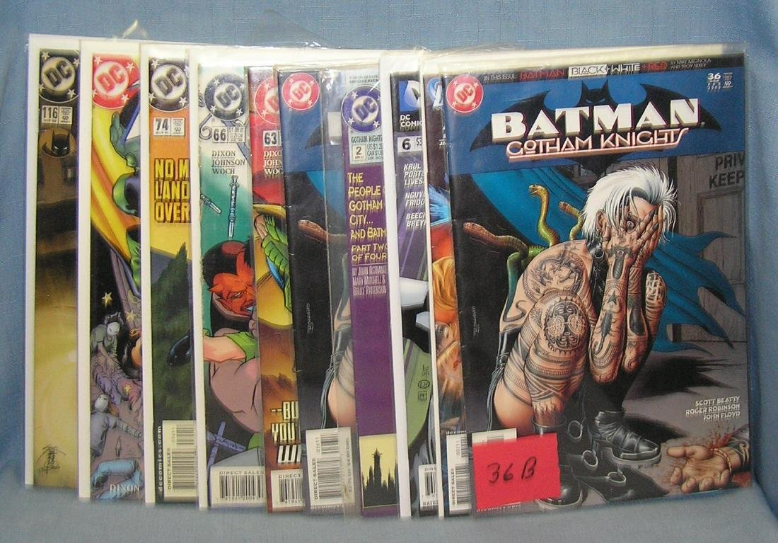 Group of Batman and Robin related comic books