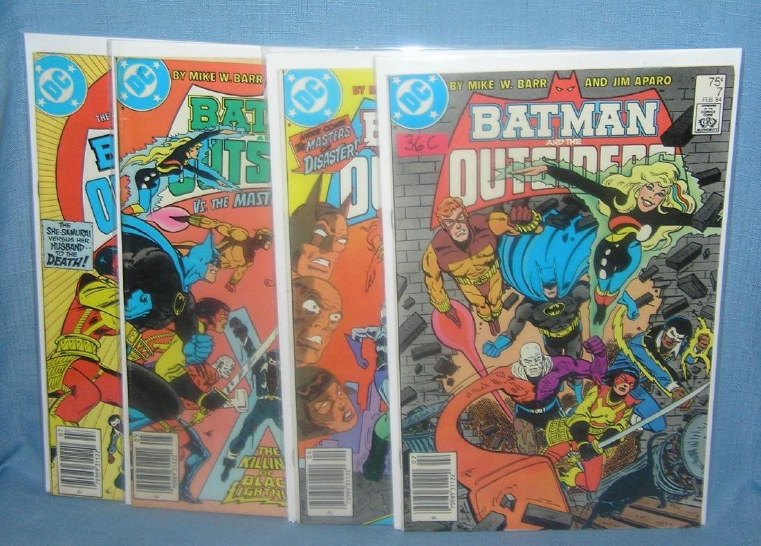 Group of vintage Batman comic books