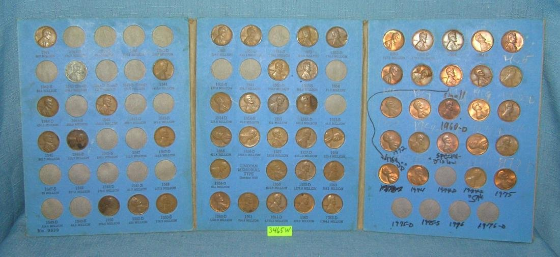 Four books of vintage Lincoln head pennies