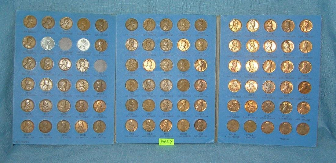 Six books of vintage Lincoln head pennies - 2