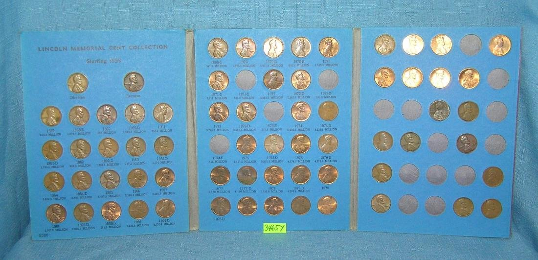 Six books of vintage Lincoln head pennies - 3