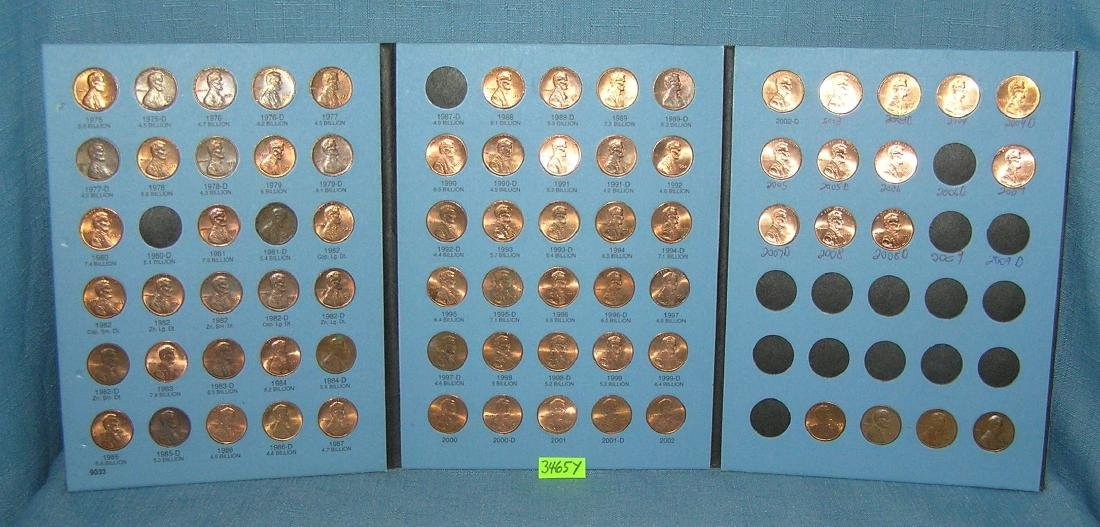 Six books of vintage Lincoln head pennies - 4