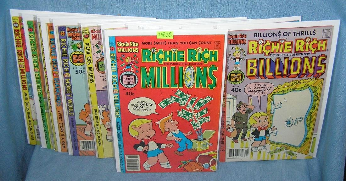 Group of vintage Richie Rich comic books