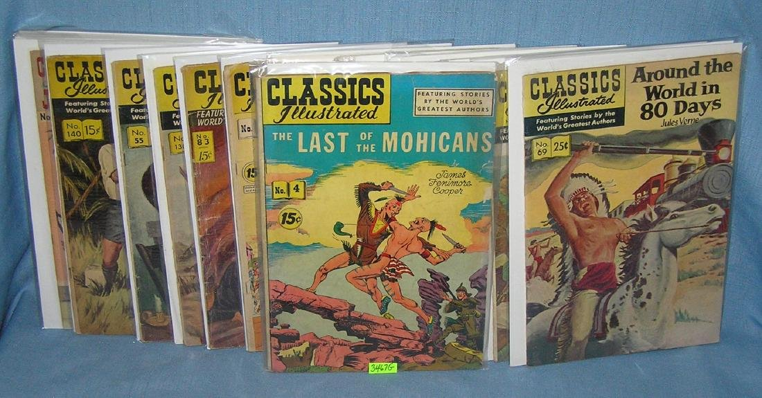 Early Classic Illustrated comic books
