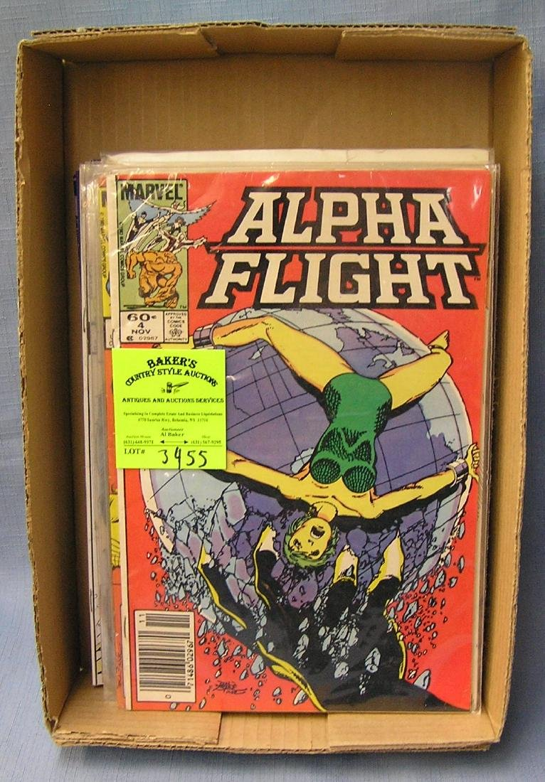 Marvel Alpha Flight super hero comic books