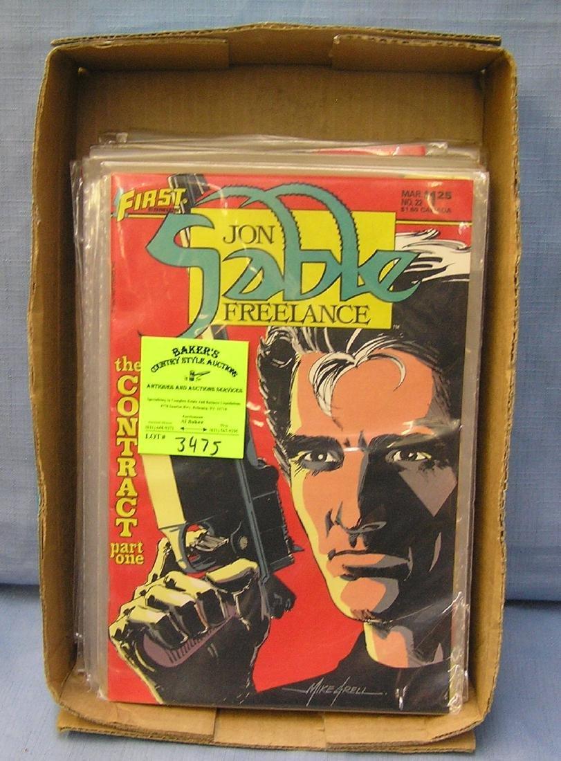 Collection of vintage Jon Sable freelance comic books