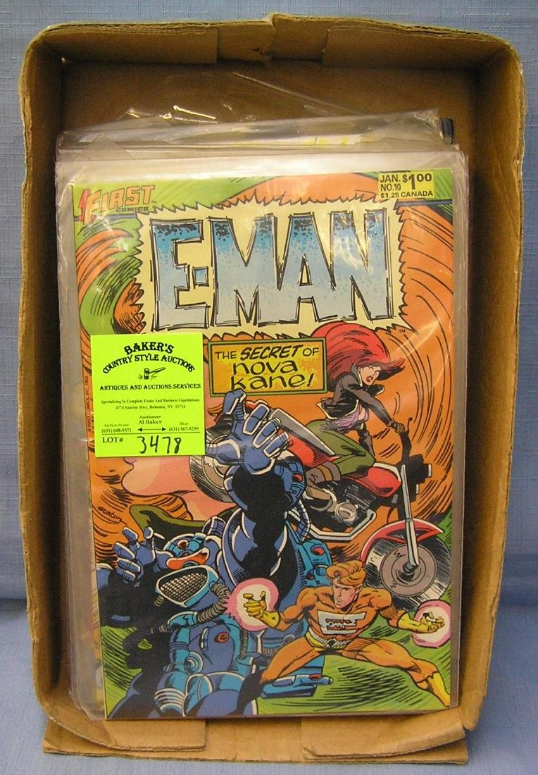 Collection of vintage E-man comic books