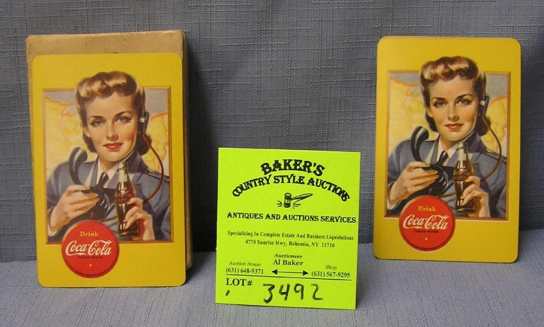 Coca Cola playing cards circa WWII era scarce