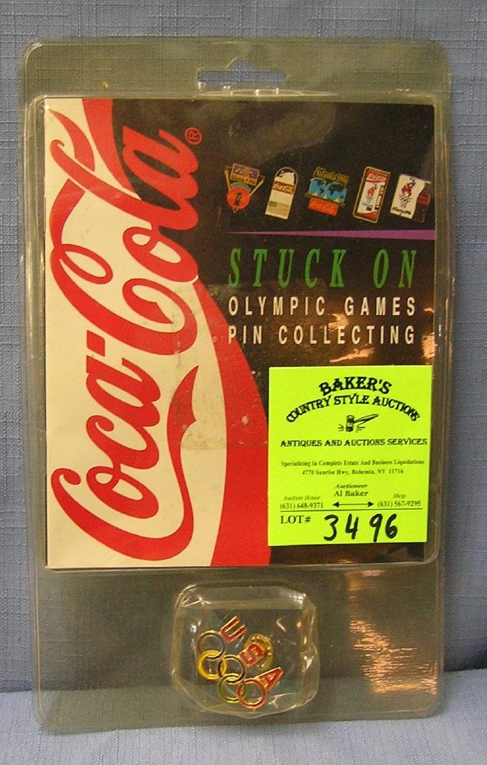 Vintage Coca Cola Olympic pin mint on card