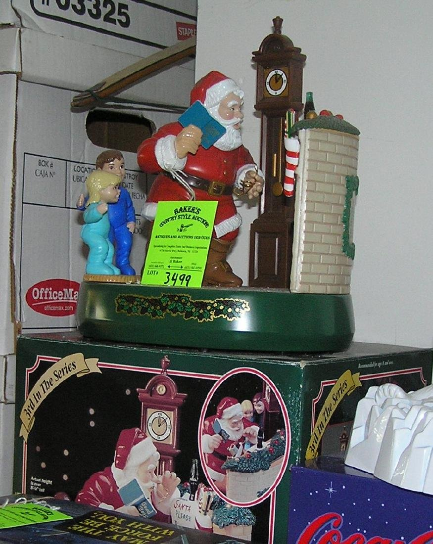 Vintage Coca Cola Santa Claus mechanical bank