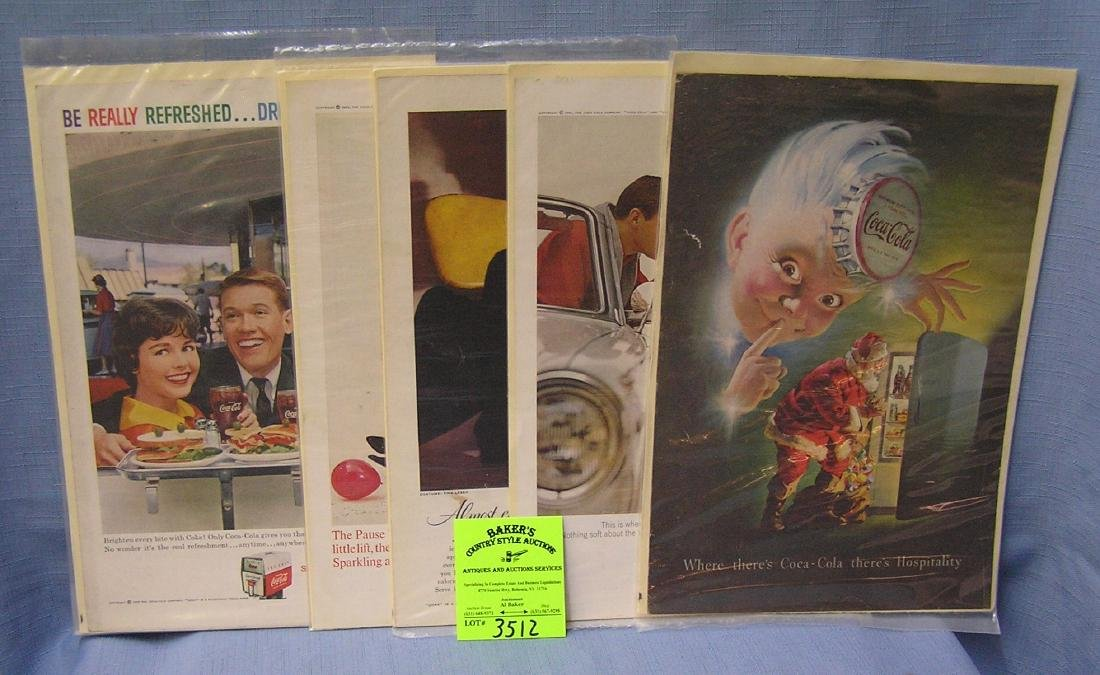 Collection of vintage Coca Cola advertising ads
