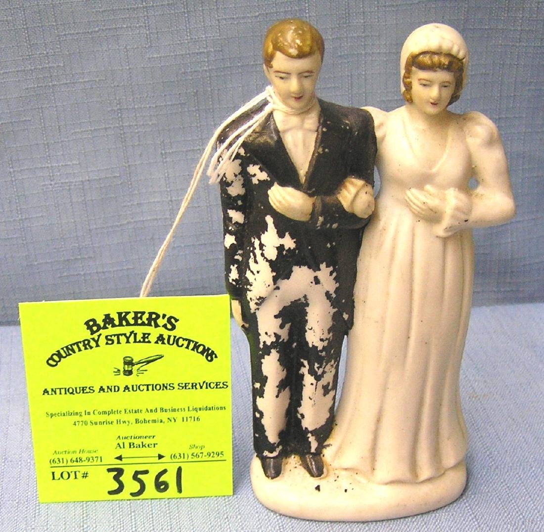 Vintage porcelain bride and groom figure