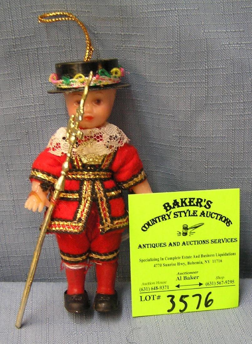 Vintage dressed hard plastic English guard doll