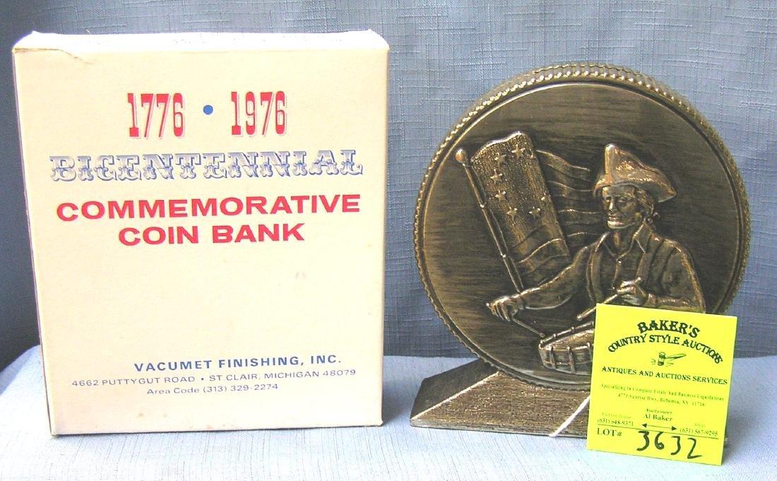 Vintage hard plastic Bicentennial coin bank