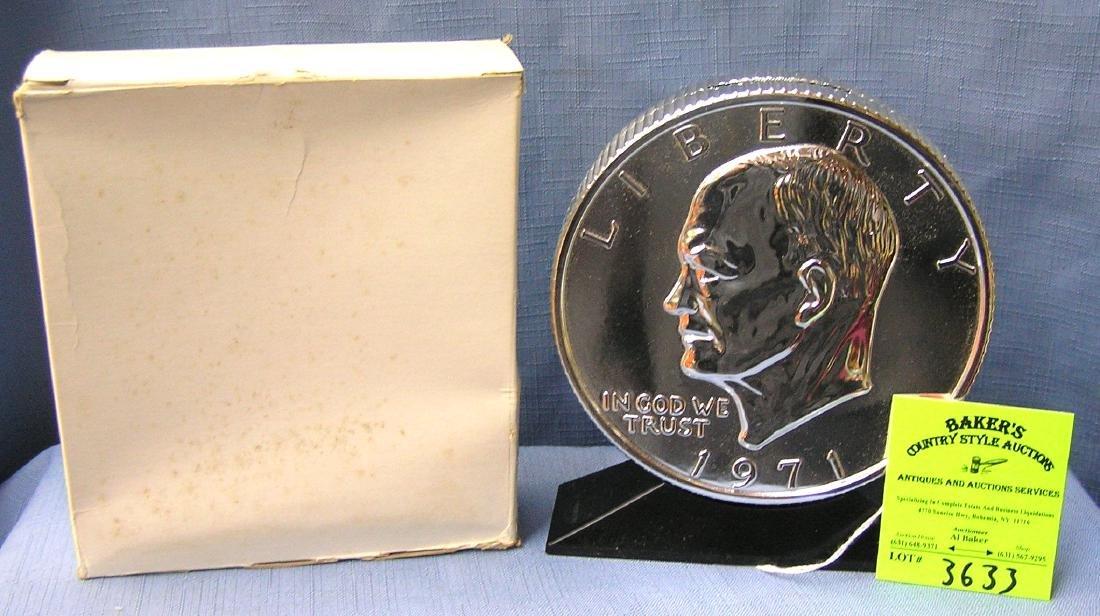 Eisenhower dollar coin bank in original box