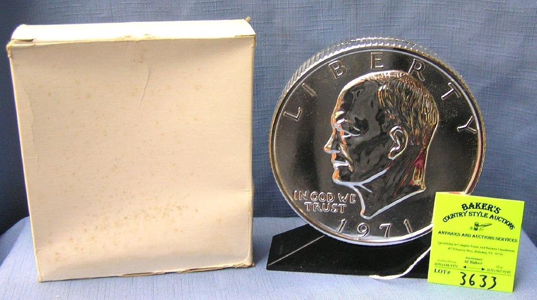 Eisenhower dollar coin bank in original box