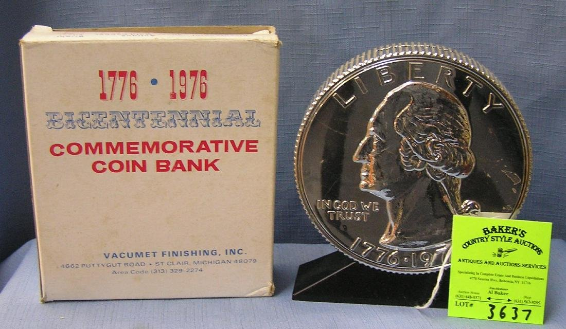 Vintage cast metal Washington coin bank
