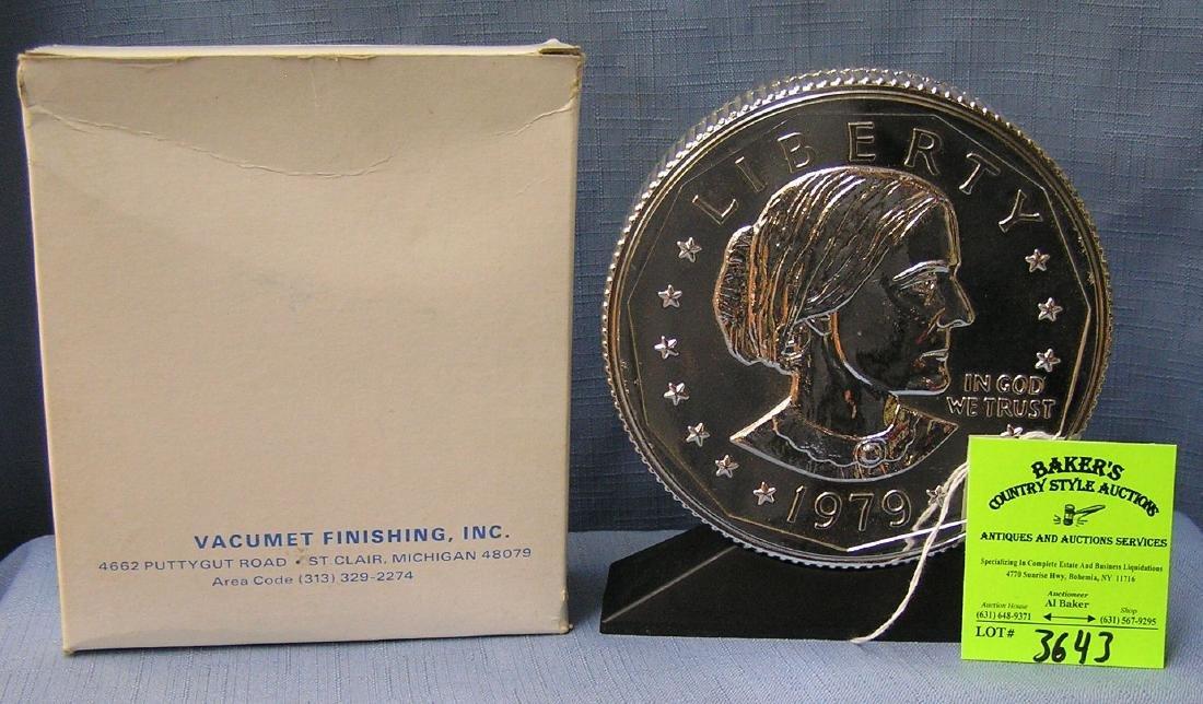 Vintage cast metal Susan B. Anthony coin bank