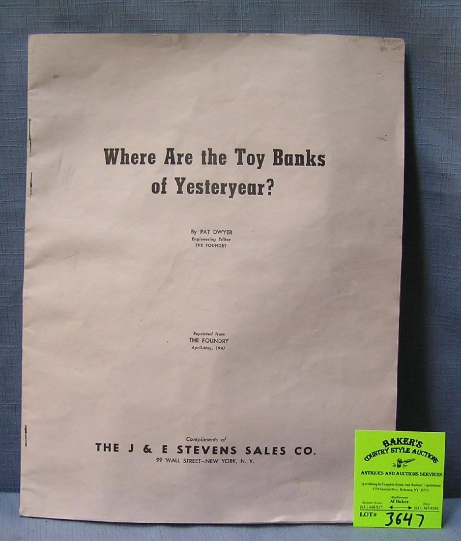 J & E Stevens company mech. bank booklet