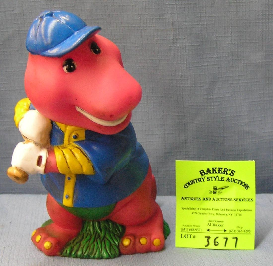 Figural Barney character bank