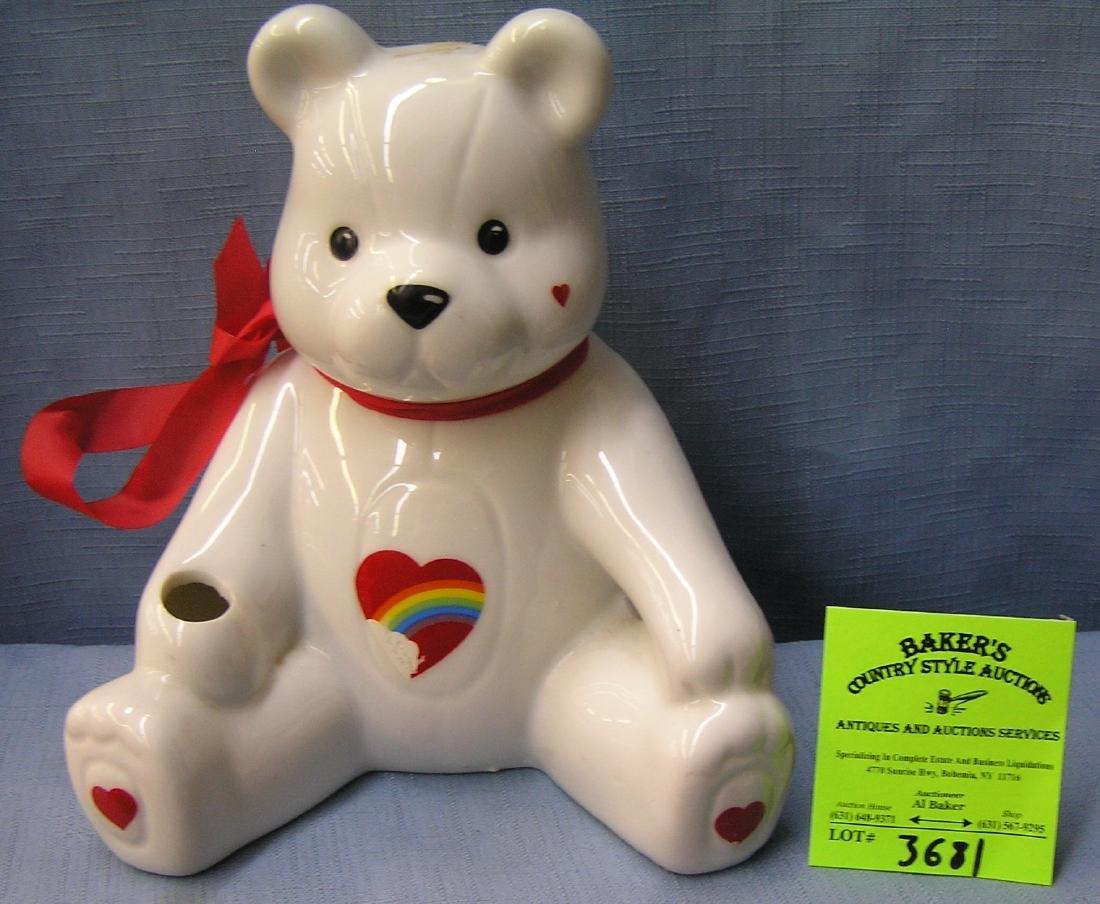 Porcelain seated bear bank