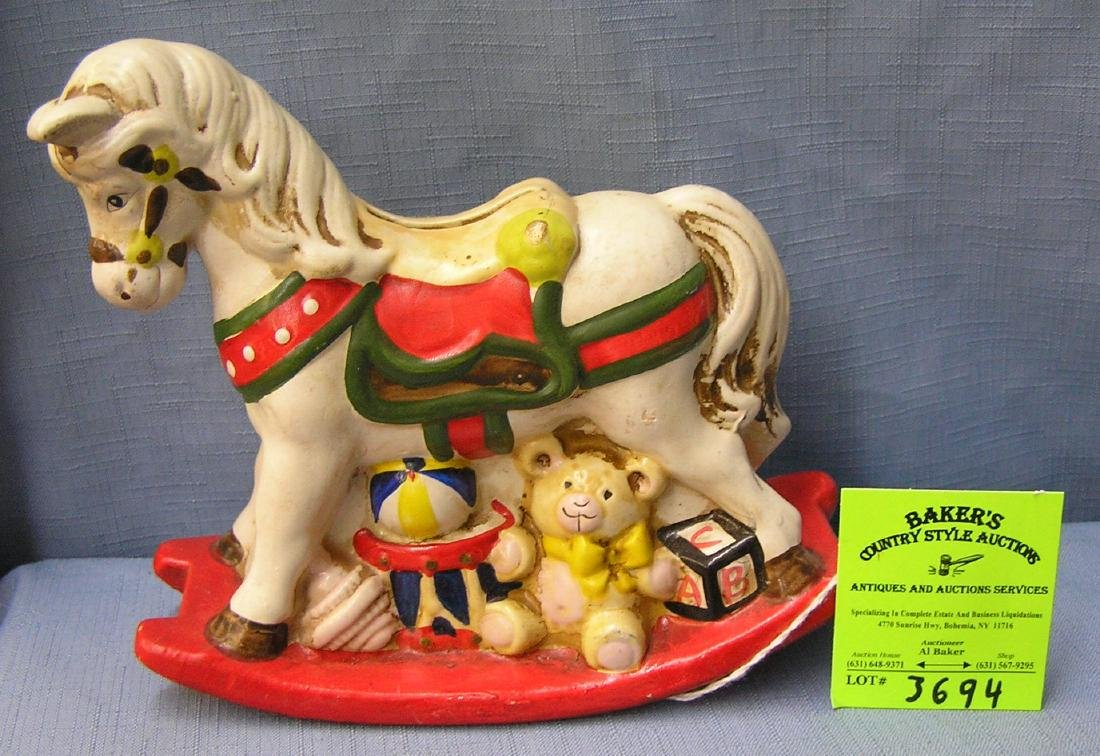 Vintage painted pony bank