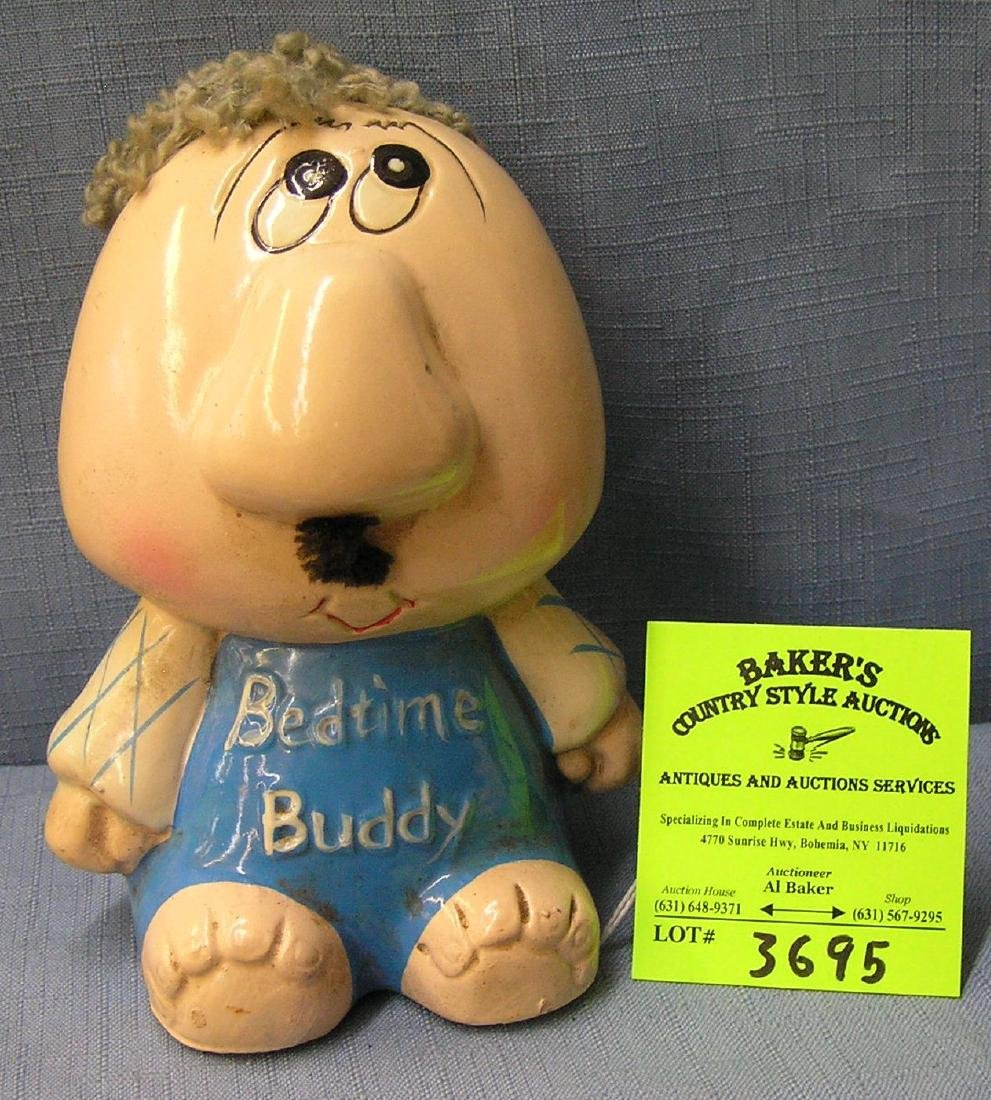 Vintage painted bed time buddy bank