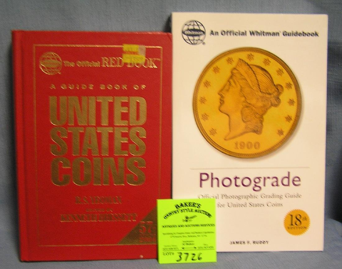 Pair of coin books with identification and value guides