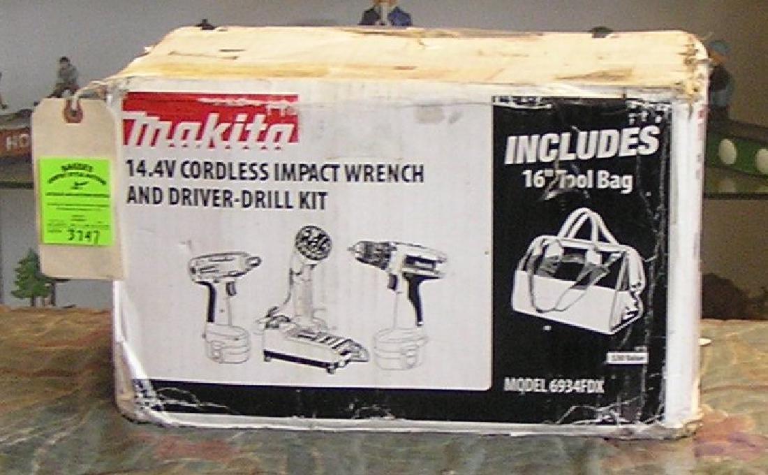 Makita cordless impact wrench & driver drill kit