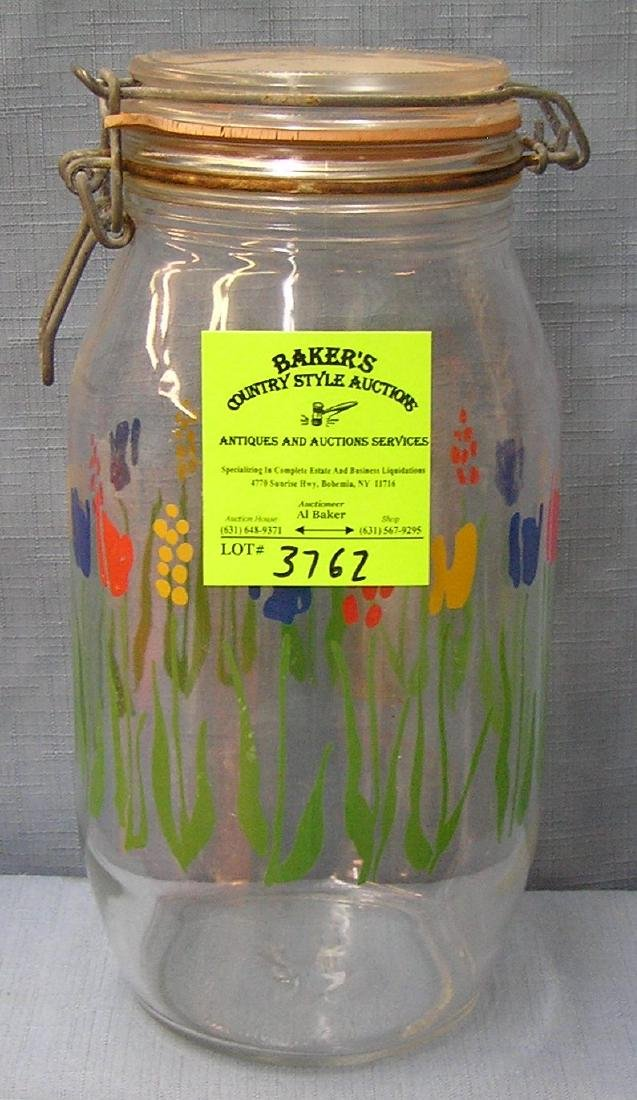 Large vintage storage jar