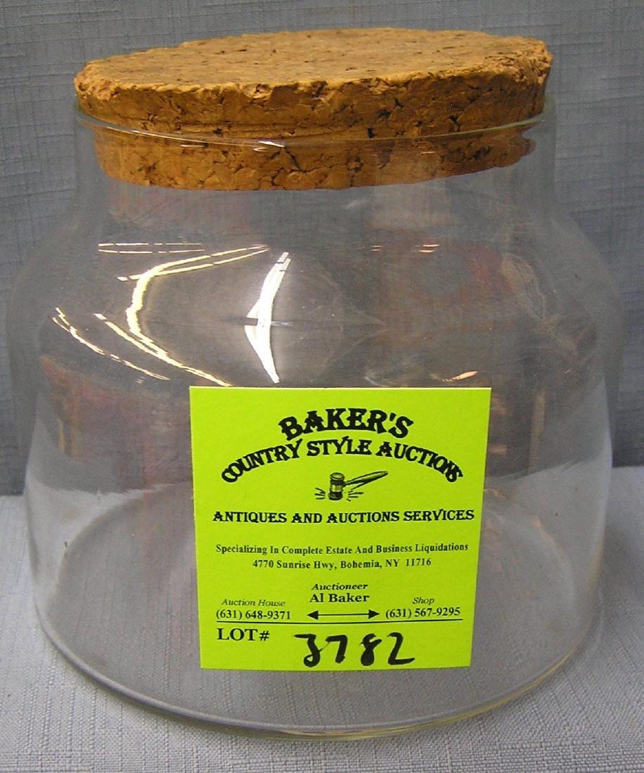 Vintage storage jar with cork lid