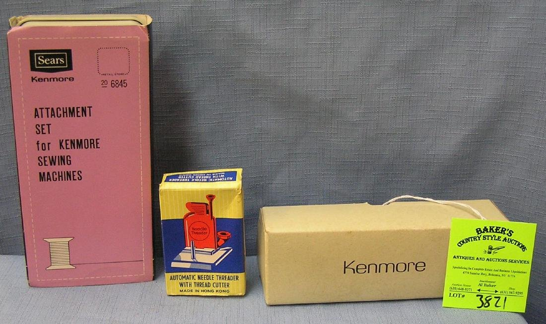 Group of three vintage sewing accessory kits