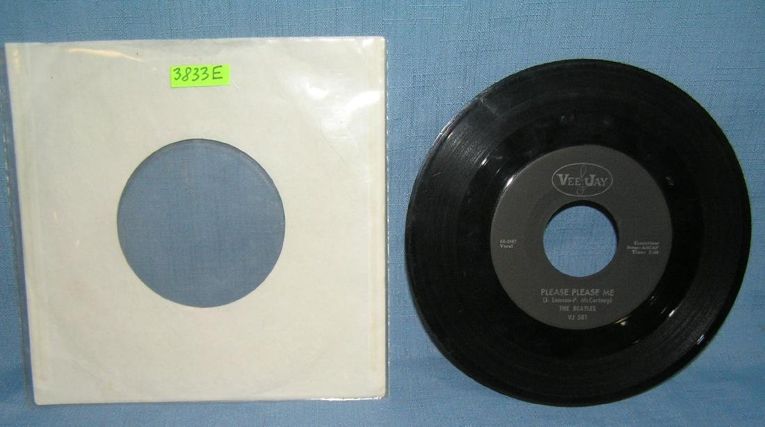 The Beatles vintage 45rpm record