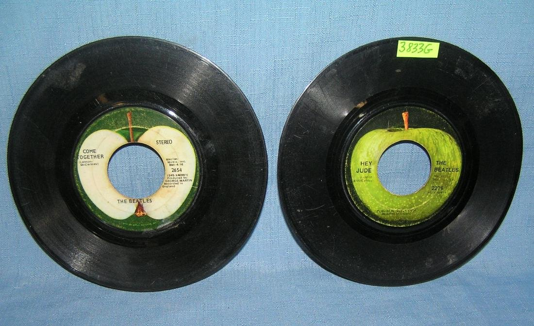 Pair of vintage Beatles 45 RPM records